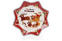 Тарелка фарфоровая 498-224 С Рождеством 20,5 см