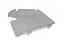 """Лоток пластиковий для паперу АРНИКА """"Компакт"""", JOBMAX, димчатий, 370х270х65 мм (80601)"""