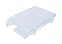 """Лоток пластиковий  для паперу АРНИКА """"Компакт"""", JOBMAX, прозорий, 365х250х60 мм (80602)"""