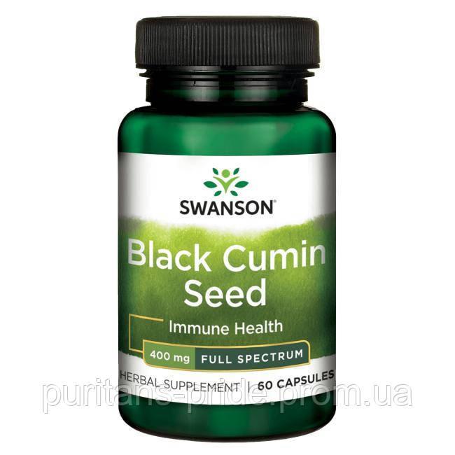 Черный тмин,Swanson,Black Cumin Seed 400мг 60 капсул