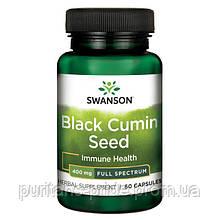 Чорний кмин, Swanson,Black Cumin Seed 400 мг 60 капсул