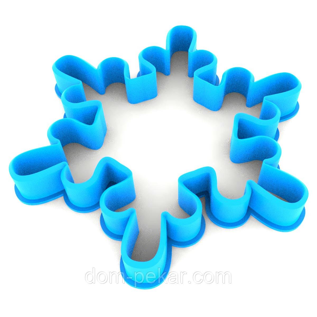 Вирубка для пряників Сніжинка-2 8*9 см (3D)