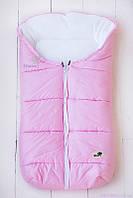Конверт для новорожденной девочки на флисе, розовый