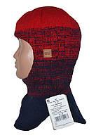 Шапка-шлем зимняя детская красная
