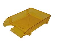 Лоток пластиковий для паперу АРНИКА, лимонний, 370х260х68 мм (80506)