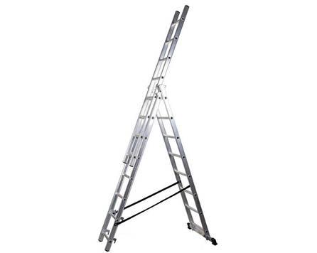 Трехсекционная лестница PROFI DW 3x8 ступеней