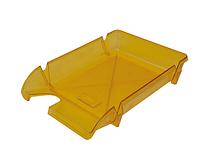 """Лоток пластиковий для паперу АРНИКА """"Компакт"""", лимонний, 370х270х65 мм (80606)"""