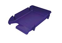 """Лоток пластиковий для паперу АРНИКА """"Компакт"""",  фіолетовий, 370х270х65 мм (80608)"""