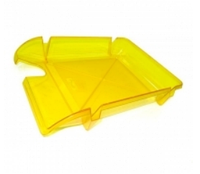 """Лоток для паперу горизонтальний ECONOMIX """"Компакт"""", лимонний, 365х250х60 мм (E80606)"""