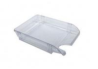 Лоток пластиковий для паперу АРНИКА, прозорий, 370х260х68 мм (80502)