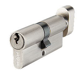 Цилиндр англ. ключ, матовый никель MVM Р6Е 35/30Т SN