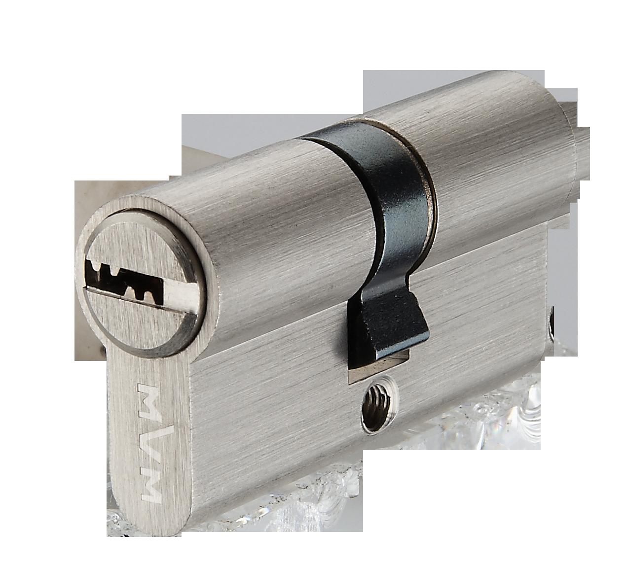 Цилиндр перф. ключ, матовый никель MVM Р6Р 35/35 SN