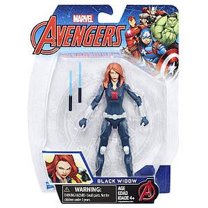 Фігурка з аксесуарами Чорна Вдова 15см (Месники) - Black Widow, Avengers, Basic, Hasbro