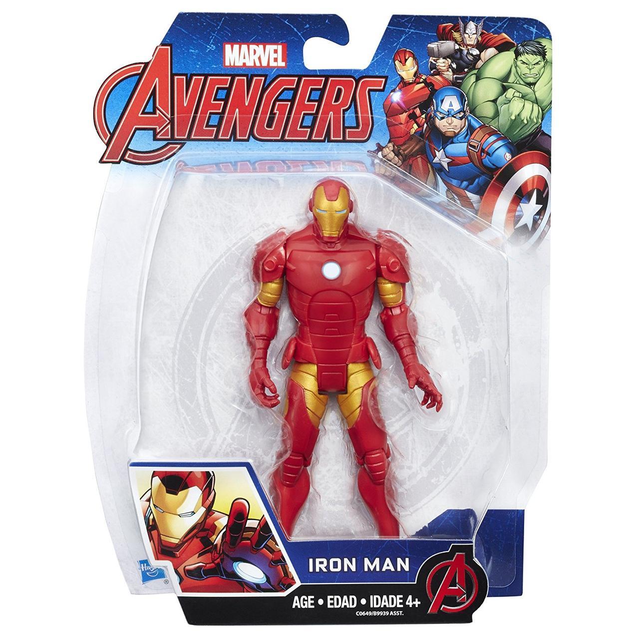 Фигурка Железный Человек 15см (Мстители) - Iron Man, Avengers, Basic, Hasbro (B9939)