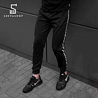 Спортивные штаны с рефлективными лампасами beZet with reflective, черные