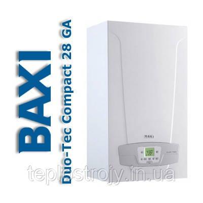 Котел газовый конденсационный BAXI DUO-TEC COMPACT 28 GA,двухконтурный,28кВт