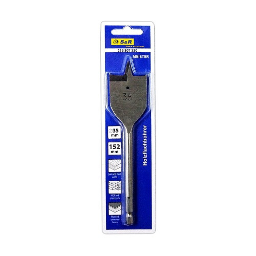 Сверло по дереву перовое 35 мм S&R (216807350)