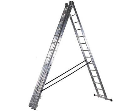 Трехсекционная лестница PROFI DW 3x14 ступеней