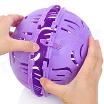 Пластиковый контейнер для стирки бюстгальтеров | Мячик для стирки нижнего белья Flexy Bra Washer, фото 3