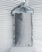 Демисезонный конверт на флисе для новорожденных, серый, фото 1