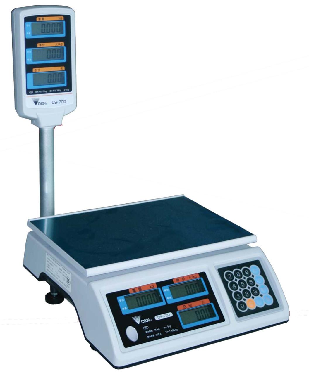 Ваги торгові Digi DS 700 P (15 кг)