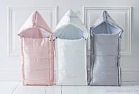 Демисезонный конверт на флисе для новорожденных, Молочный
