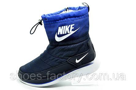 Женские дутики в стиле Nike, на меху, фото 2