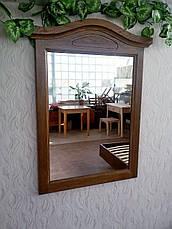 """Зеркало в дубовой рамке """"Жизель"""" (лесной орех), фото 3"""