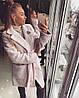 Женское красивое пальто букле-Зефирка