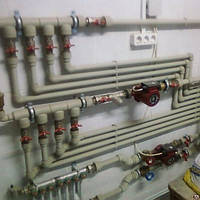 Монтаж систем водопровода и отопления.
