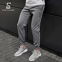 Спортивные штаны с рефлективными лампасами beZet with reflective, серые