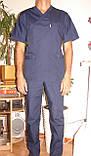 Медицинский костюм мужской 22106 (батист), фото 2