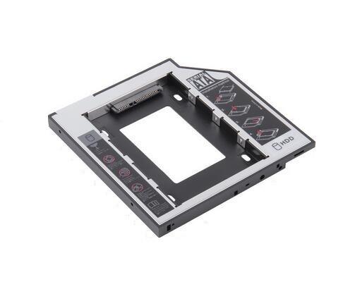 """Карман-адаптер для SSD-HDD диска (вместо CD-DVD) Sata/mSata 9.5mm """"Б/У"""""""