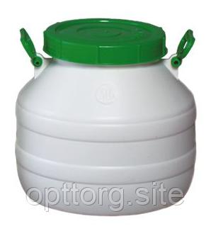 Бочка пластмассовая пищевая 30 л горловина 215 мм Лемира