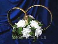 Кольца с белыми цветами №9 на свадебное авто