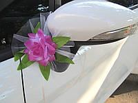 Фиолетовые цветы на зеркала 2 шт/уп