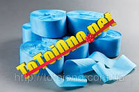 Лента метражная шелковая голубая