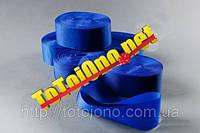 Лента шелк синяя