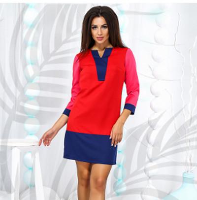 b334cbc3b97 Купить Стильное женское платье с рукавом три четверти 822815 Украина ...