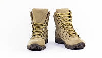 Ботинки мужские кожаные водостойкие утепленные 8з койот, фото 1
