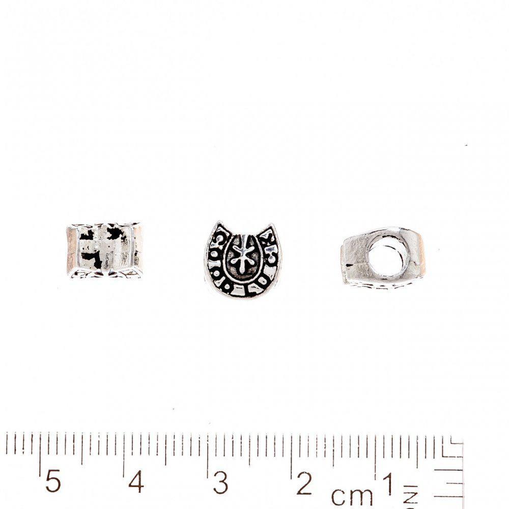 Фурнитура бусина Пандора Подкова 9х10мм d-5mm фас.20гр. +-9шт.