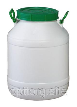 Бочка пластмассовая пищевая 40 л горловина 215 мм Лемира