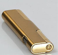 Стильная турбо зажигалка Broad газовая зажигалка с турбо пламенем в металлическом корпусе золотого цвета