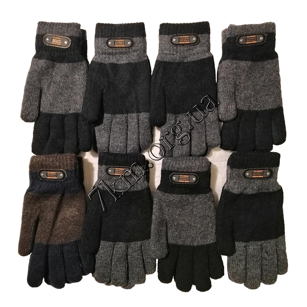 Перчатки мужские одинарные +махра для телефона XXL Китай Оптом H8134