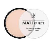 """Пудра компактная для лица """"LN Professional"""" Matt Effect тон 102"""