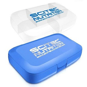 Таблетница Scitec Nutrition Pill Box (синяя и белая) with Scitec logo