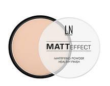 """Пудра компактная для лица """"LN professional"""" Matt Effect тон 106"""