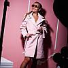 Женское  эффектное пальто из саржевого кашемира