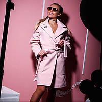 Женское  эффектное пальто из саржевого кашемира , фото 1