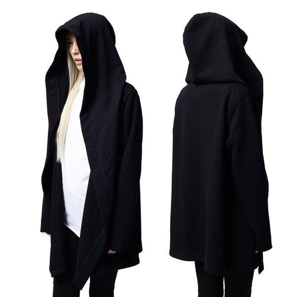 Женская мантия черная под заказ от производителя. Копия Bat Norton 1:1